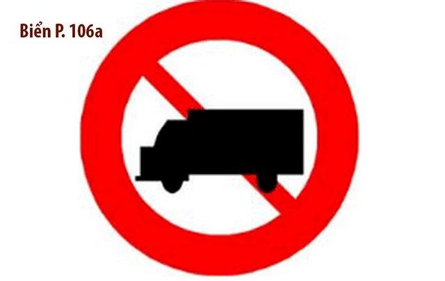 """Từ 1/7, khi gặp biển cấm ô tô tải (Biển P.106a), xe tải dưới 1,5 tấn, xe pickup và xe VAN chở hàng trên 950kg đều phải """"quay đầu"""""""