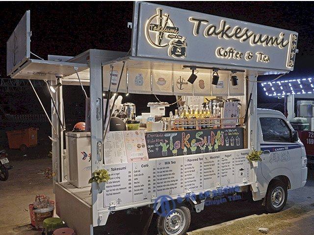 Xe tải bán hàng lưu động bán Cafe