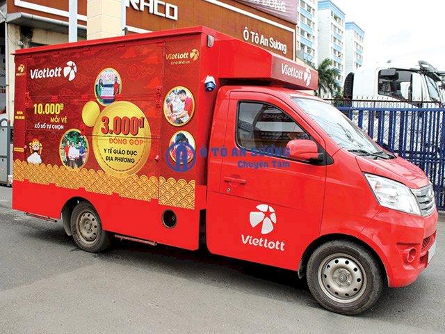 Xe tải bán hàng lưu động bán Vietlott