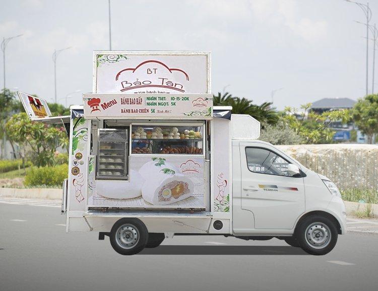 Xe tải bán hàng lưu động bán bánh bao