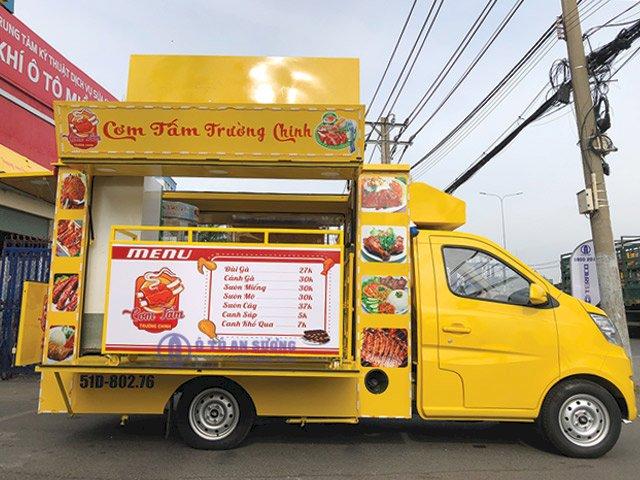 xe tải bán cơm tấm lưu động