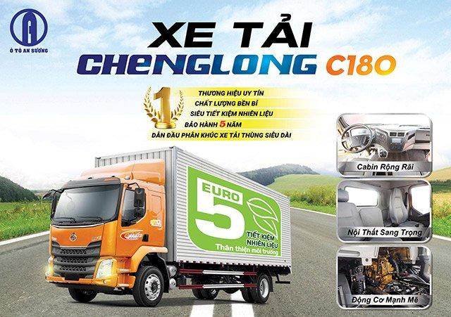 Xe tải Chenglong C180 thùng dài 10m