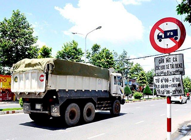 Quy định cấm tải trọng vô thành phố Hcm