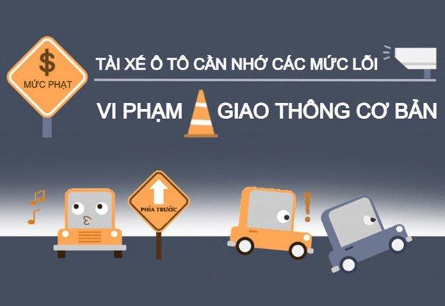 Tài xế ô tô cần nhớ các mức lỗi vi phạm giao thông cơ bản