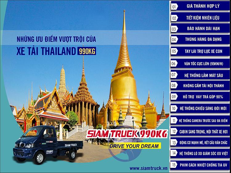 15 lý do nên mua xe tải Thái Lan Siam Truck giá rẻ HCM